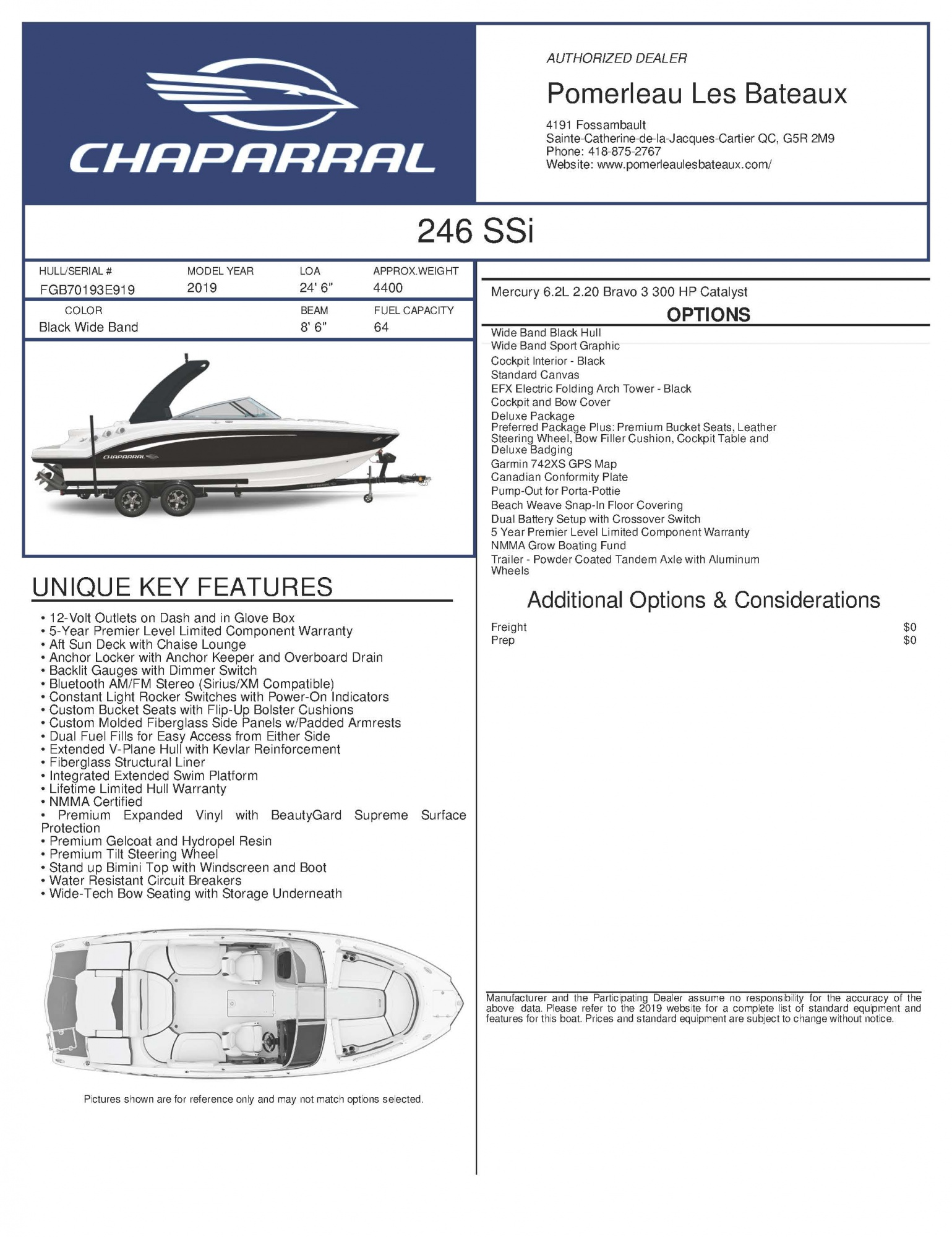 Chaparral 246 SSI - Chaparral-Boats-2019-246--Window-Sticker-266378 (1)