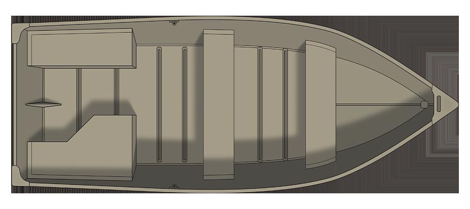 Crestliner 1672 OUTREACH - floorplan-overhead_737385