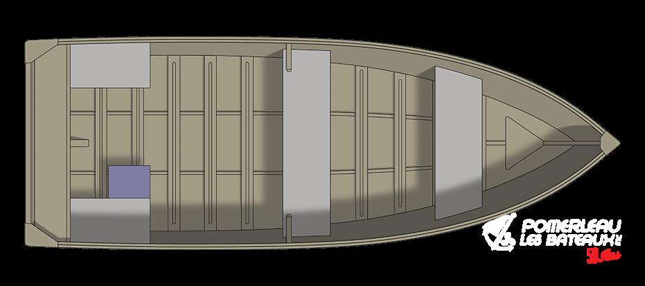 Crestliner 1668 Outreach - floorplan-overhead_151247
