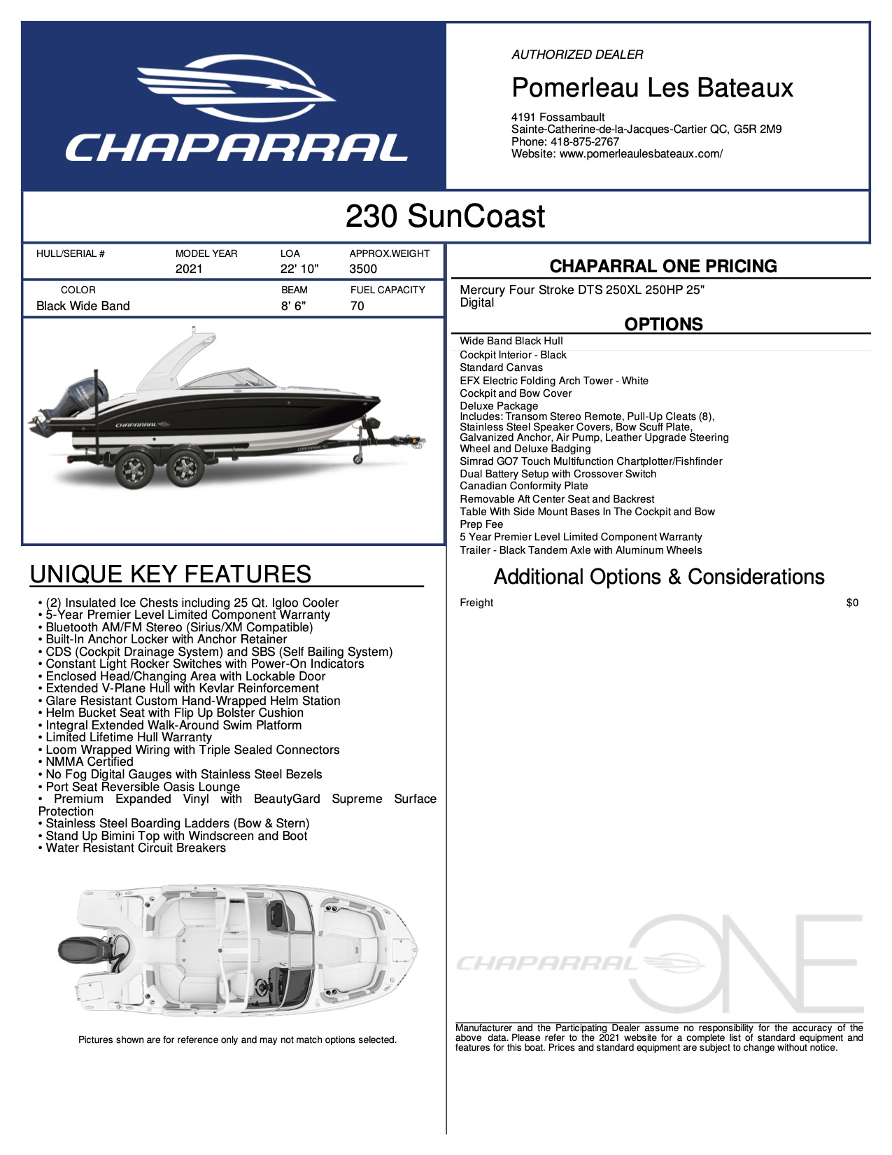 Chaparral 230 suncoast - Chaparral-Boats-2021-230--Window-Sticker-304236