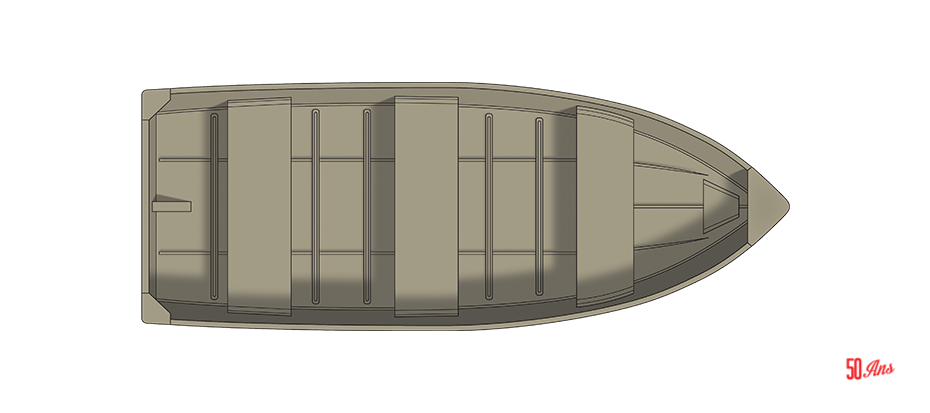 Crestliner 1258 Outreach - floorplan-overhead_151297