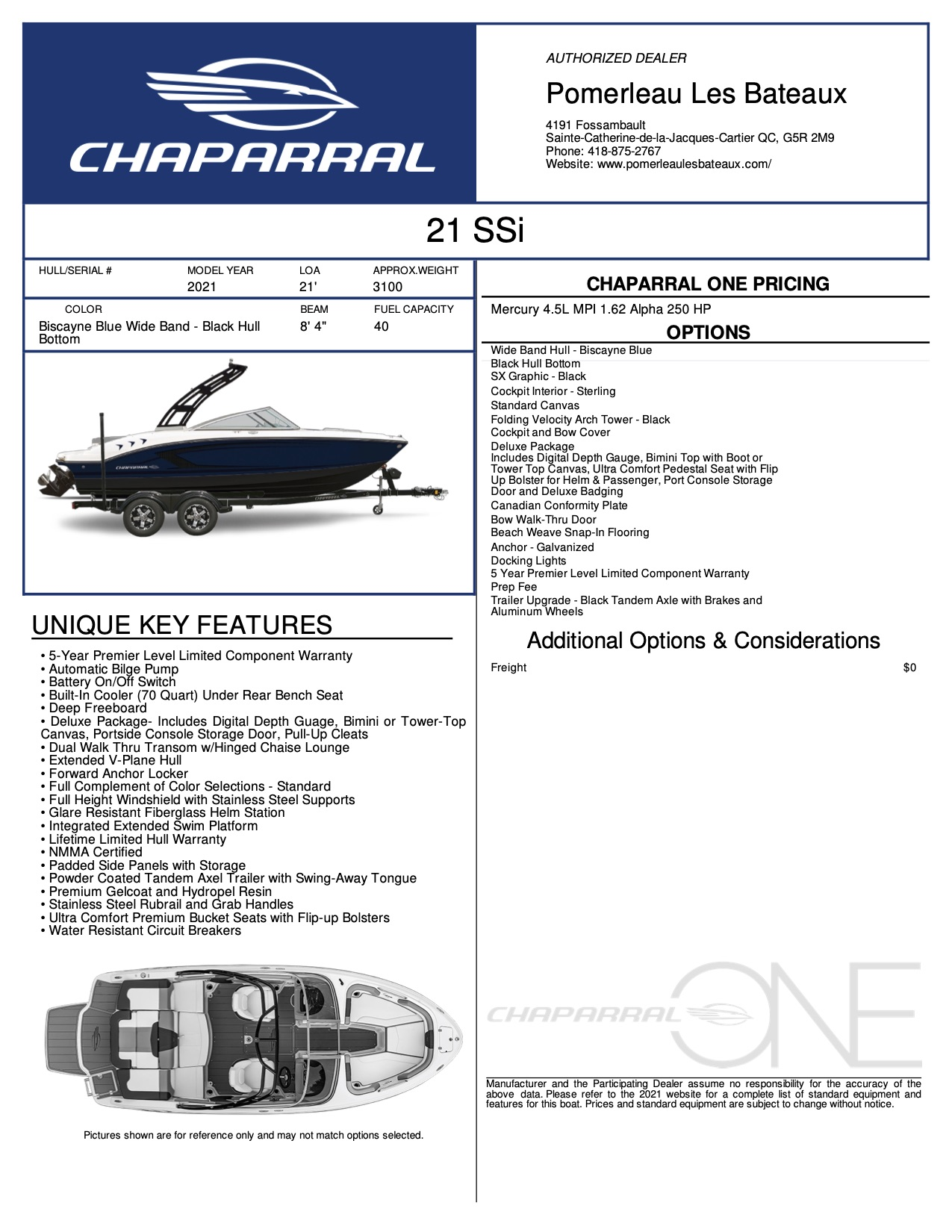 Chaparral SSI 21 - Chaparral-Boats-2021-21--Window-Sticker-305056