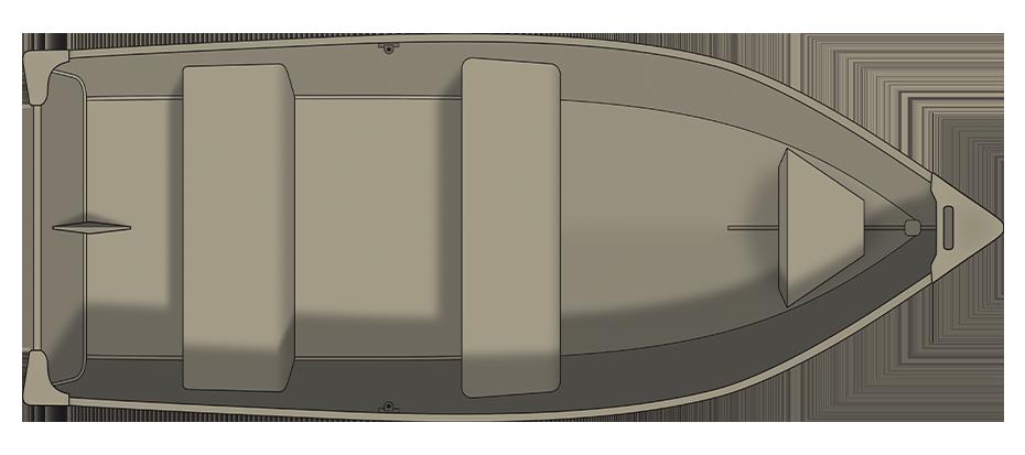Crestliner 1461L OUTREACH - floorplan-overhead_737369