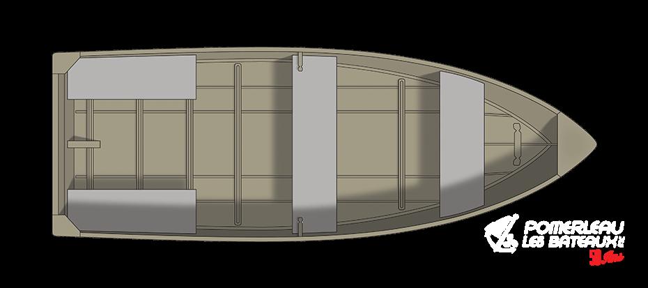 Crestliner 1460 Outreach - floorplan-overhead_151273