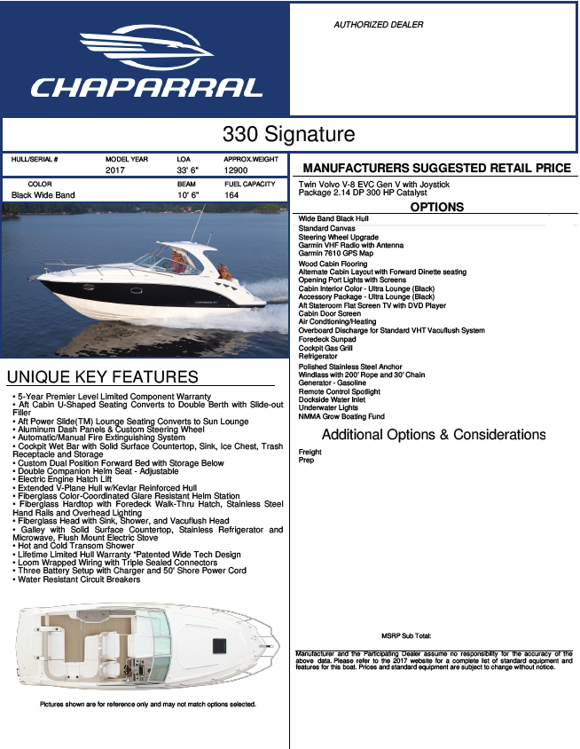 Chaparral Signature 330 - Capture