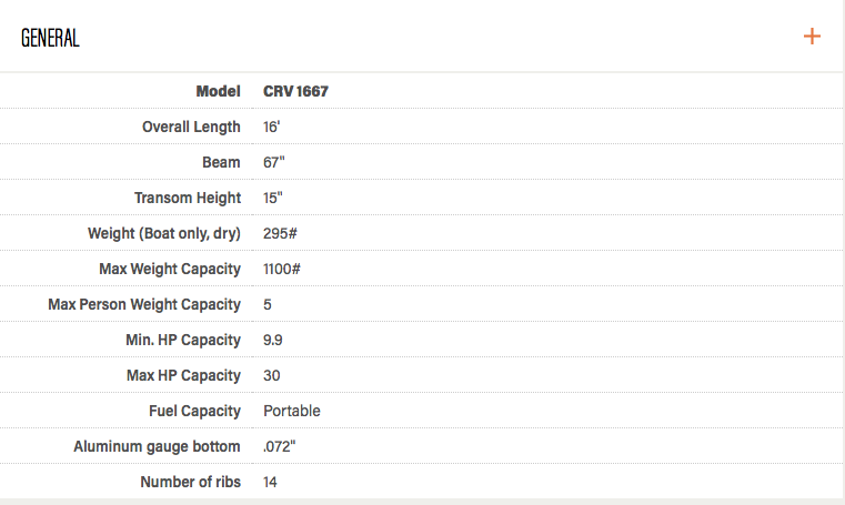 Crestliner 1667 CRV - Capture d'écran 2017-04-01 à 17.40.52
