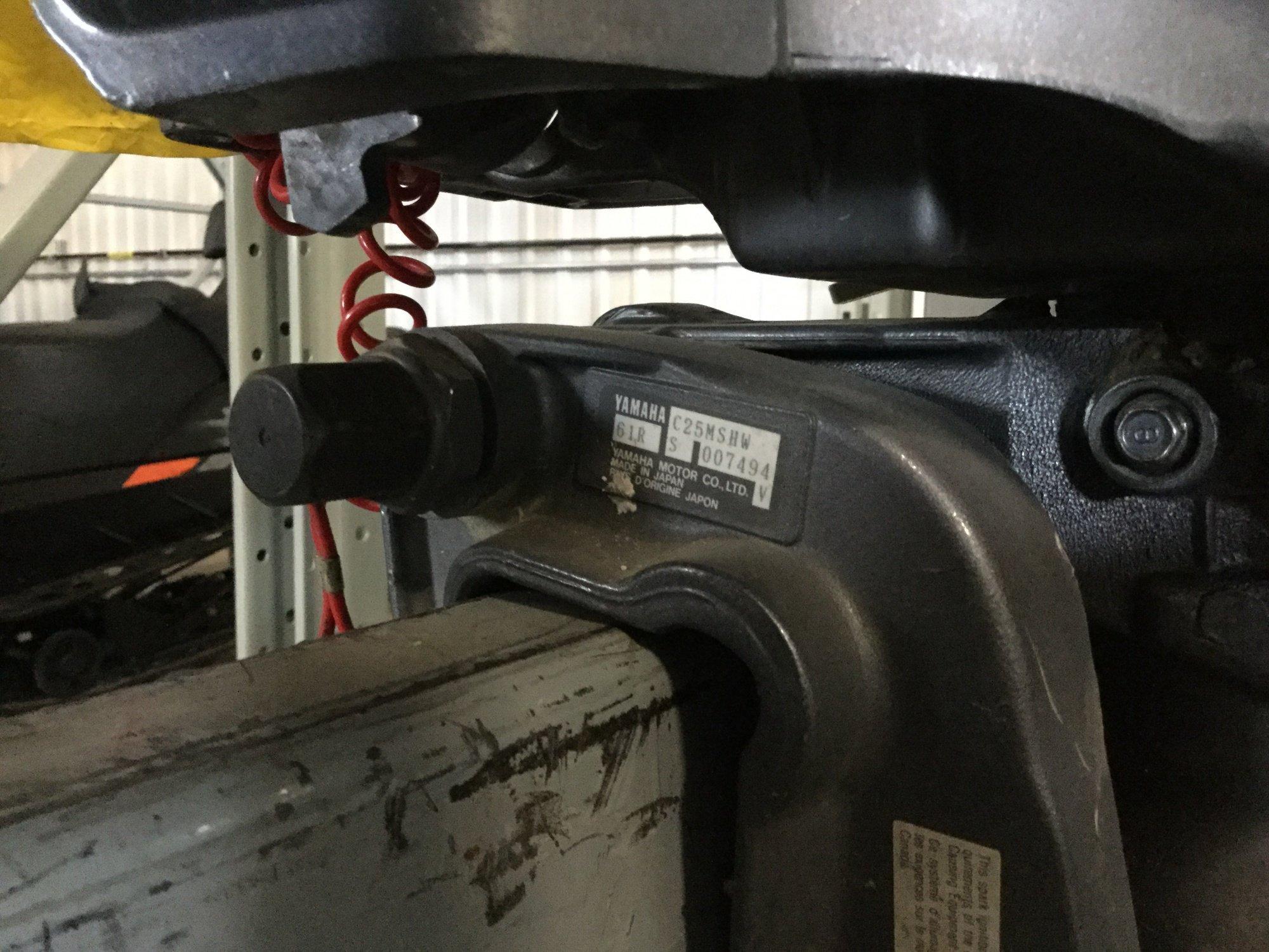 Yamaha 25 Tiller - IMG_1646