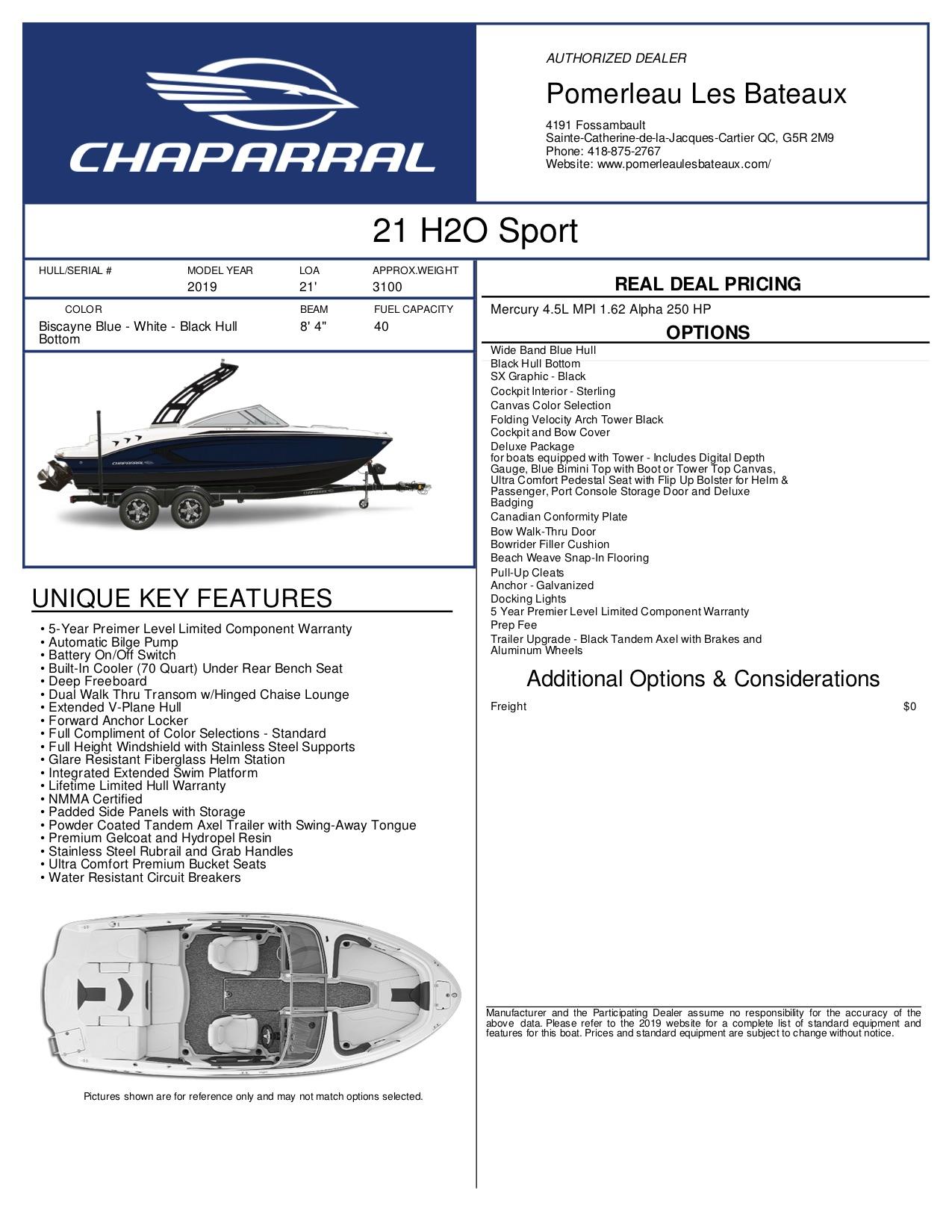 Chaparral H2O 21 - 21bleu