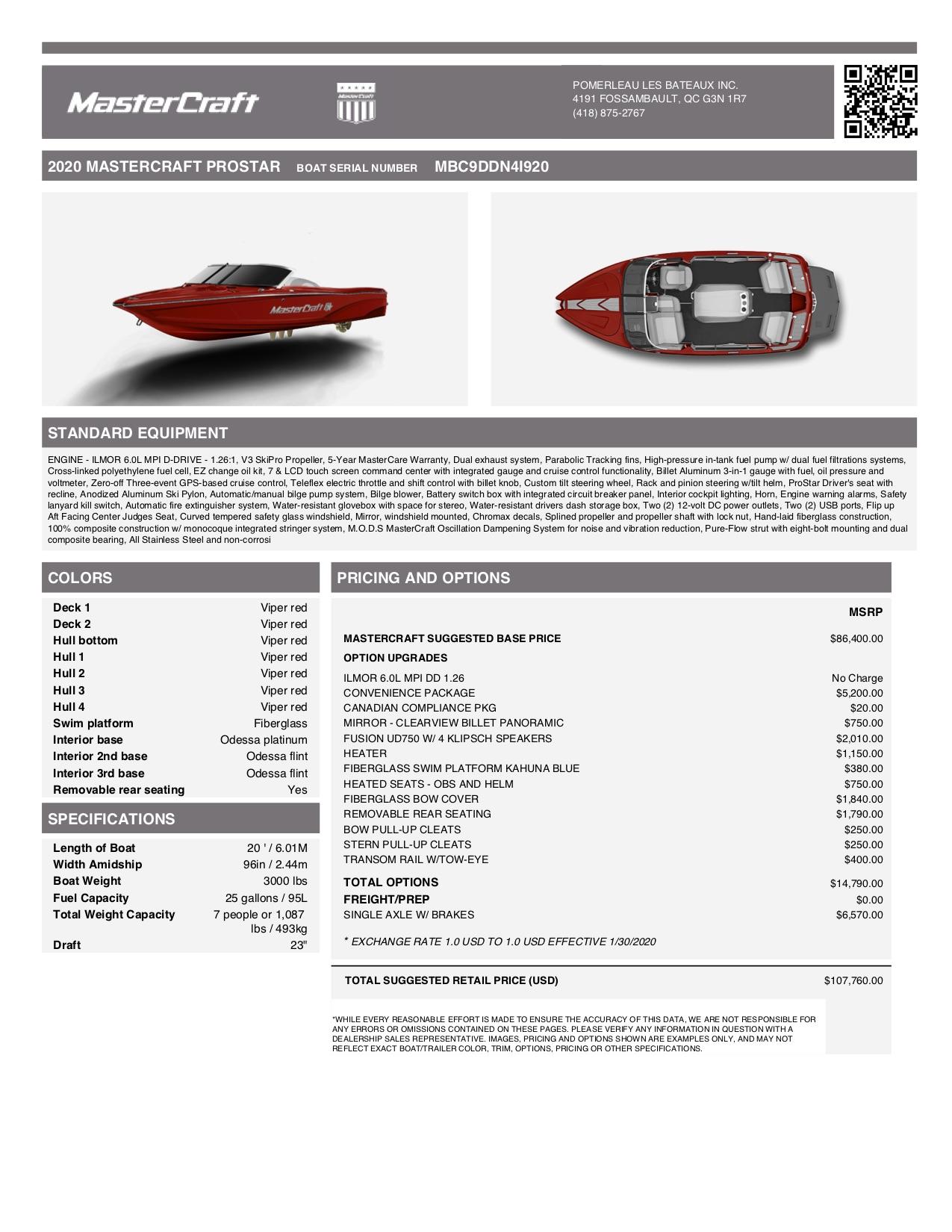 Mastercraft Prostar - PROSTAR VIPER REDmsrp_MBC9DDN4I920
