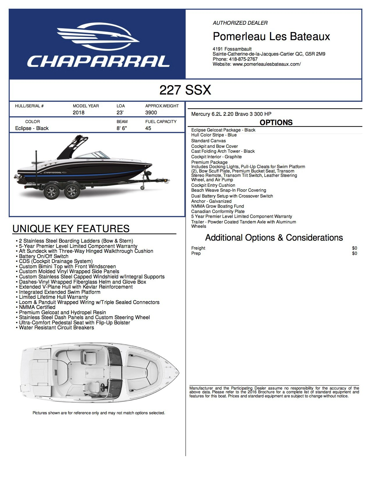 Chaparral SSX 227 - Chaparral-Boats-2018-227--Window-Sticker-244191
