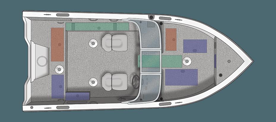 Crestliner Fishhawk 1750 Platinum - floorplan-overhead_137428
