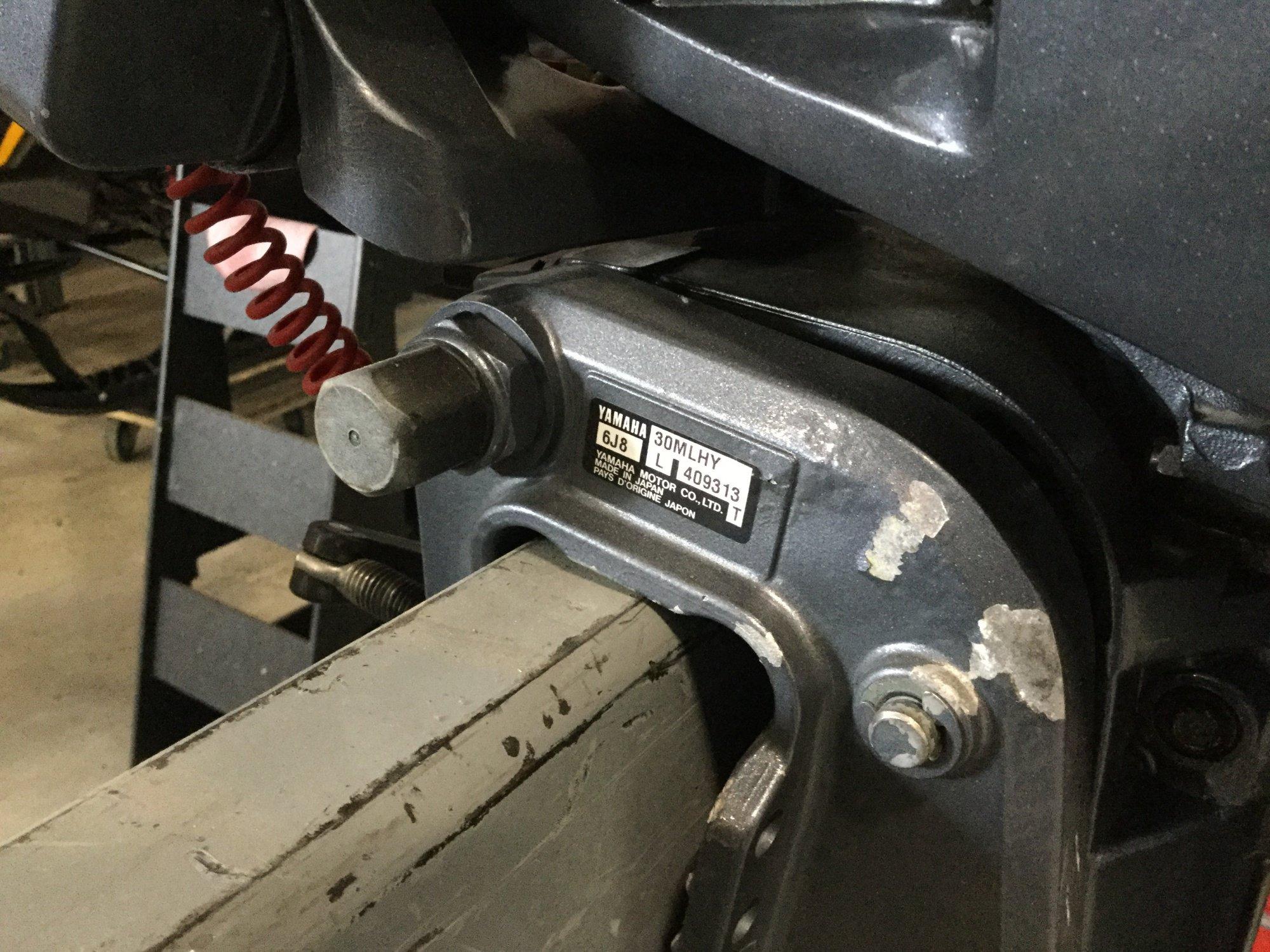 Yamaha 30 Tiller - IMG_1638