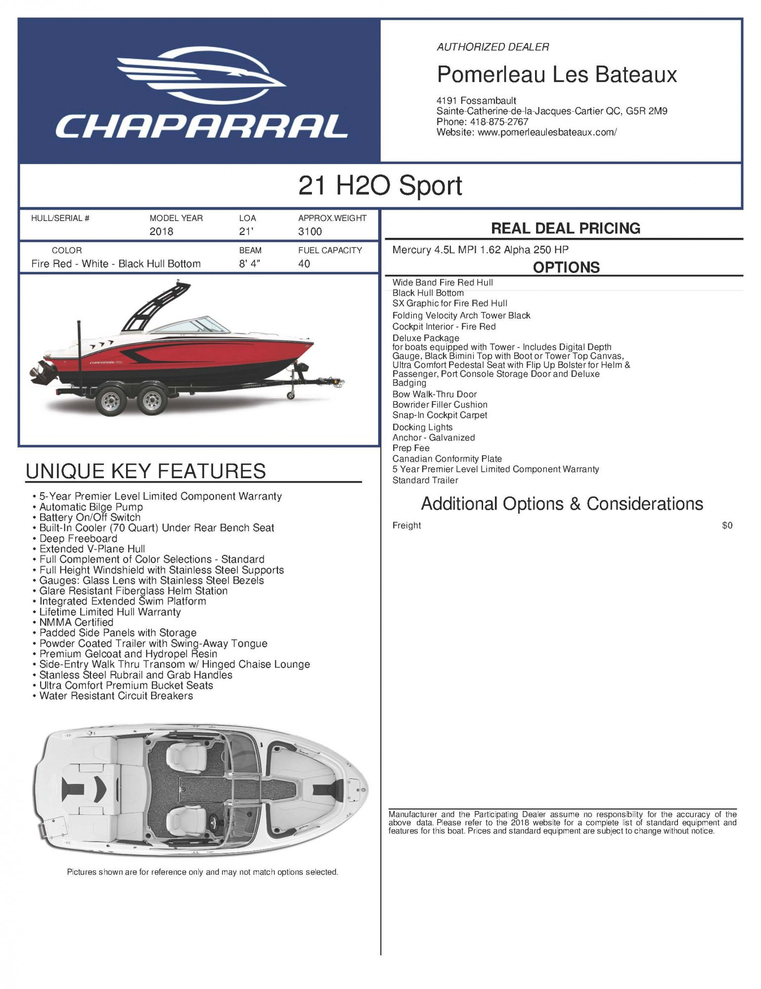 Chaparral H2O 21 - Chaparral-Boats-2018-21-Sport-Window-Sticker-247721