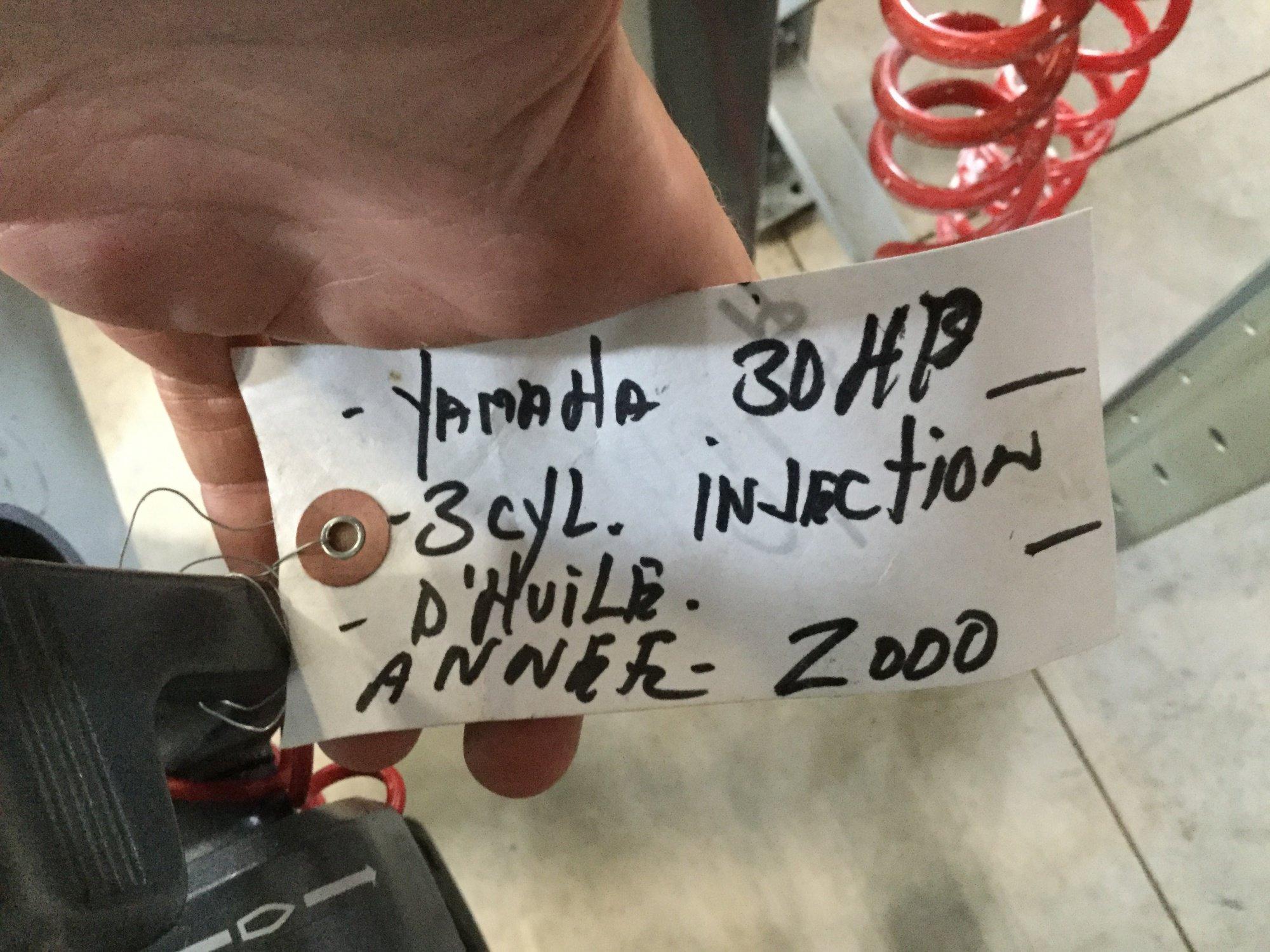 Yamaha 30 Tiller - IMG_1639