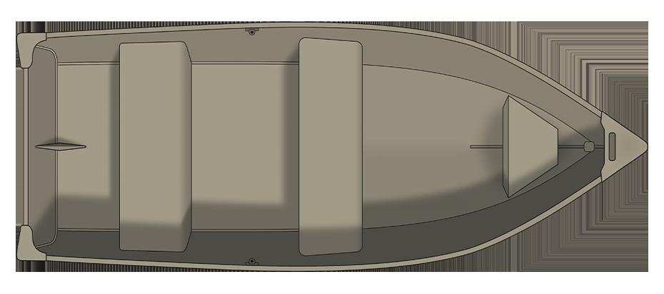 Crestliner 1260L OUTREACH - floorplan-overhead_737361