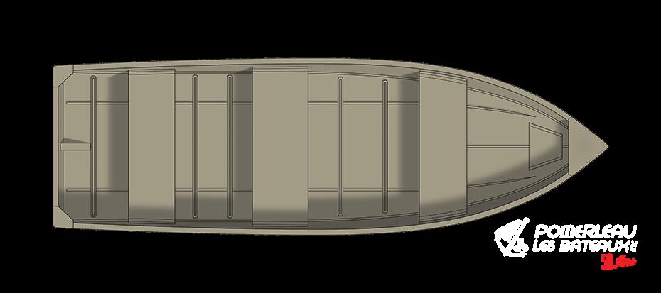 Crestliner 1458 Outreach - floorplan-overhead_151286